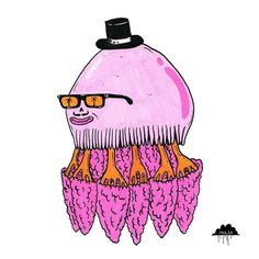 I drew Carlos for the 2016 National Trust Heritage Festival. The original painting of Carlos is available from my online shop link in my profile. He was thought to be extinct for 103 years and then someone saw him and he wasn't extinct any more. An Ode to Carlos the Crambione Cookii Jellyfish Carlos the Jellyfish is a powerful chap His sting is so powerful it could knock off your hat No one had heard from him for like 103 years Then he popped up one day and everyone gave three cheers Turns…
