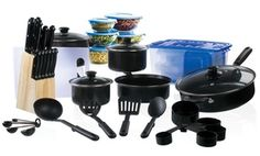 Massive set of cookware, cutlery, and storage containers gives budding chefs everything needed to whip up meals and snacks at home