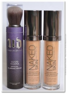 15 Minute Beauty Fanatic: Urban Decay Naked Skin Foundation and Optical Blur brush Makeup Goals, Love Makeup, Makeup Tips, Beauty Makeup, Makeup Set, Rimmel, Maybelline, Liquid Makeup, Skin Makeup