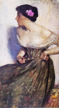 John White Alexander (American painter, 1856-1915) Portrait of a Lady 1900