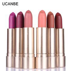 Maquillaje de la Marca 1 UNIDS Cremoso de Terciopelo Mate lápiz de Labios Rouge 12 Colores maquillaje Nude Beso Labios Muestran Su Encanto de La Moda A Prueba de Larga Duración