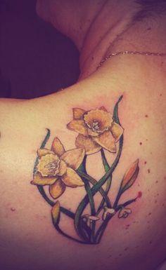 Daffodil tattoo gor Carol by caz @ Portsmouthink