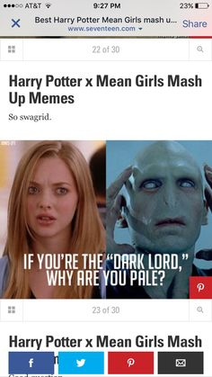 Harry Potter with mean girls