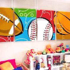 Sports room - I could paint this...