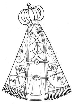 Dibujos para catequesis: NUESTRA SEÑORA DE APARECIDA