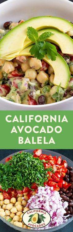 A mix of Middle Eastern flavors and California Avocados makes this fresh and delicious balela dinner dish.