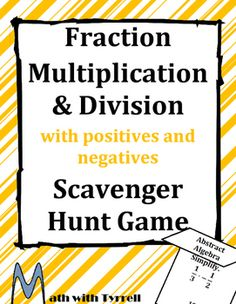 My students love these scavenger hunts. I have never seen them so actively engaged and excited about fractions. It is self-checking and allowed me to work 1-on-1 with students who needed remediation. Awesome!