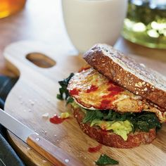 Egg Sandwich with Mustard Greens and Avocado | Food & Wine