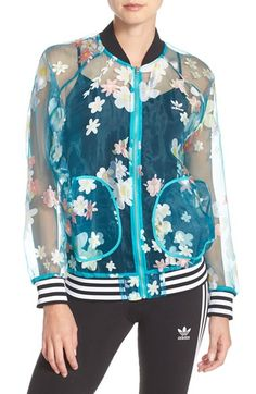 letterman  jacket with sheer fabric giving more breezy approach and feel