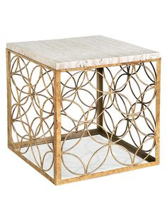 Marble Cube Side Table by Regina Andrew at Gilt