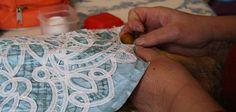 la dentelle à Luxeuil - a Renaissance Lace (tape lace) similar to Romanian Point Lace and Battenberg lace