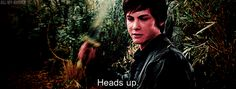 "Logan Lerman as Percy Jackson in ""The Lightning Thief."" (GIF) SO. ATTRACTIVE. I. CAN'T. BREATHE."