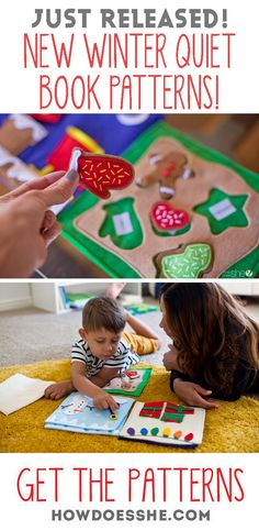 You guys LOVED The Fall Quiet Book Patterns and have been asking us to hurry and release the Winter Quiet Book Patterns! So I am excited to announce… THEY ARE READY!! 3 brand new winter themed DIY quiet book patterns to keep your kids entertained for hours! See the new patterns here!