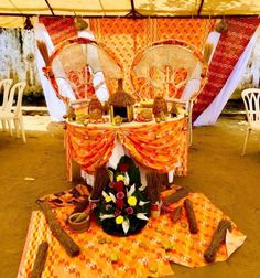 Traditional Wedding Decor, African Traditional Wedding, Wedding Set Up, Wedding Signs, Decoration Evenementielle, Event Decor, Gingerbread, Wedding Planner, Backdrops