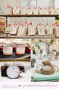 Great homemade wedding favors - jams and such