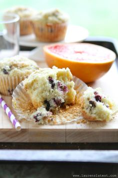 Lauren's Latest » Blueberry Lemon Muffins {gluten free} use almond milk