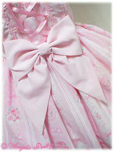 Romantic Rose Letter Jumper skirt(Sax) - Japan Shops