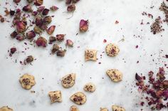Rosewater Shortbread - Although it's holiday cookie season, I can't help but share these - buttery whole wheat shortbreads fragrant with rosewater, flecked with toasted nuts, and dried rose petals. - from 101Cookbooks.com