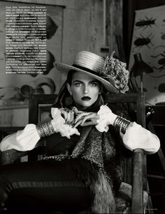 folk style giampaolo sgura10 Karlina Caune Dons Folk Fashion for Vogue Germany May 2013 by Giampaolo Sgura