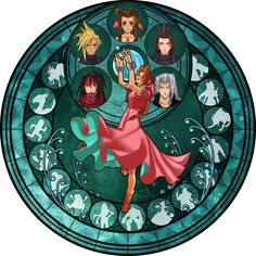 FFVII Stained Glass Window