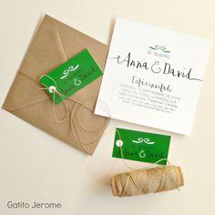 Invitación BODA Sí quiero | Wedding invitations green