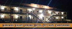 Kanawha Valley Arena Resort-Hotel Lodging, Vacation Rentals, Campground, Saloon, Weddings, Motorsports, Bike Rally, Rodeo