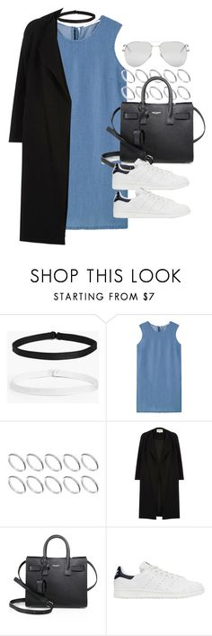 """Style #11390"" by vany-alvarado ❤ liked on Polyvore featuring Boohoo, MANGO, ASOS, River Island, Yves Saint Laurent and adidas Originals"