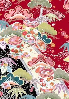Flower pattern of Japan on Behance Japanese Textiles, Japanese Patterns, Japanese Design, Flower Pattern Design, Flower Patterns, Print Patterns, Japanese Paper, Japanese Fabric, Japan Flower