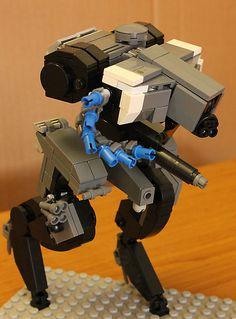 Fenrir Strider by Nick Lego Mechs, Lego Bionicle, Lego Military, Military Gear, Lego Bots, Armored Core, Anime Couples Manga, Anime Girls, Lego Craft