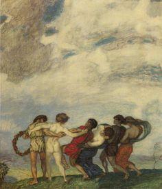 """birdsong217: """" Franz Von Stuck (1863-1928) Spring Dance, 1909 """""""