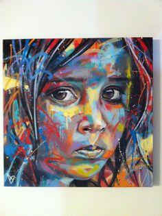 Art Of David Walker on canvas