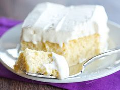 Tres Leches Cake - A simple recipe (no whipping egg whites!) for a super moist cake with the best whipped cream topping! Baking Recipes, Cake Recipes, Dessert Recipes, Authentic Mexican Desserts, Mexican Recipes, Vanilla Sponge Cake, Moist Cakes, Dessert For Dinner, Let Them Eat Cake