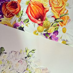 Watercolor flowers by Pip Spiro