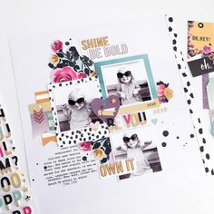 Urban Chic Layout by Tessa Buys featuring type from the new Typecast typewriter by We R