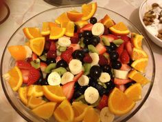 A nice fresh fruit salad. Perfect for serving at parties. Kids can make their own fruit kebabs on skewers. Recipe Journal, Food Journal, Fruit Kebabs, Skewers, Parties Kids, Fresh Fruit Salad, Salads, Appetizers, Wedding Ideas