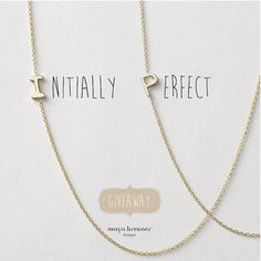 fall in love with a necklace that is perfectly yours two fans will win a signature gold maya brenner asymmetrical mini letter necklace of your choice