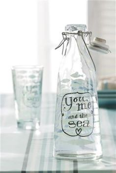 You, Me and the Sea water bottle from Next