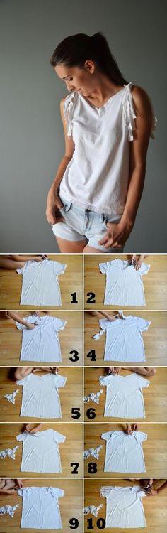 Coco ????: DIY T- Shirt Redesign Ideas (part
