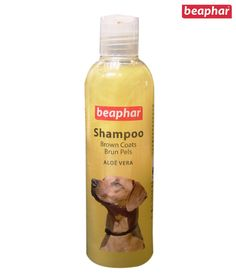 Beaphar Shampoo For Brown Coats 250ml  Beaphar Shampoo with Aloe Vera is a newly developed shampoo for the gentle cleansing of dogs of all breeds with white to dark brown fur (e.g. Westies, Poodles or Maltese dogs). Moisturizing aloe vera cares for the skin and keeps it smooth and supple. Your dog will look well cared, for their coat will be tangle free and will acquire a natural, silky shine. The shampoo is pH neutral therefore will adapt to the most sensitive skins.