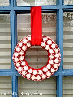 DIY Peppermint Wreaths