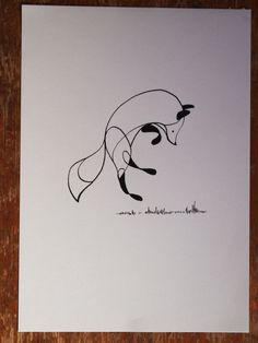'Fox' Pen and Ink Drawing by Ben The Illustrator £20