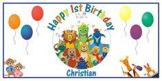 Personalized Baby Einstein Big Vinyl Birthday Party Banner by BannerCrazy.com