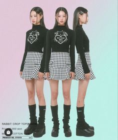 Foto Fashion, Asian Fashion, Fashion Poses, Fashion Outfits, Pretty Outfits, Cool Outfits, Estilo Grunge, Fashion Catalogue, Black Crop Tops