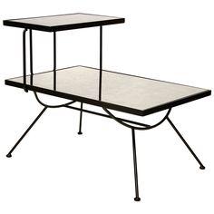Worlds Away Monica Black Iron Side Table @Zinc_Door