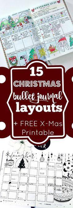 Menu Reveillon De Noel Cora.55 Best Christmas Bullet Journa Images Notebook Bullet