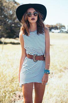 Horizontal Tank Dress | SABO SKIRT