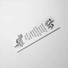 Check out this item in my Etsy shop https://www.etsy.com/uk/listing/574271279/bookmark-quote-green-flower