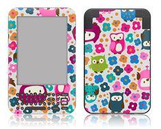 Amazon Kindle 3 / Keyboard Decal Skin - Pink Owl