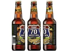 Crooked Ladder Brewing – 70 West IPA Bottle Label © 2015