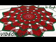 Free Crochet Doily Patterns, Christmas Crochet Patterns, Crochet Diagram, Crochet Squares, Crochet Designs, Cross Stitch Patterns, Crochet Tutorial, Crochet Dollies, Crocodile Stitch